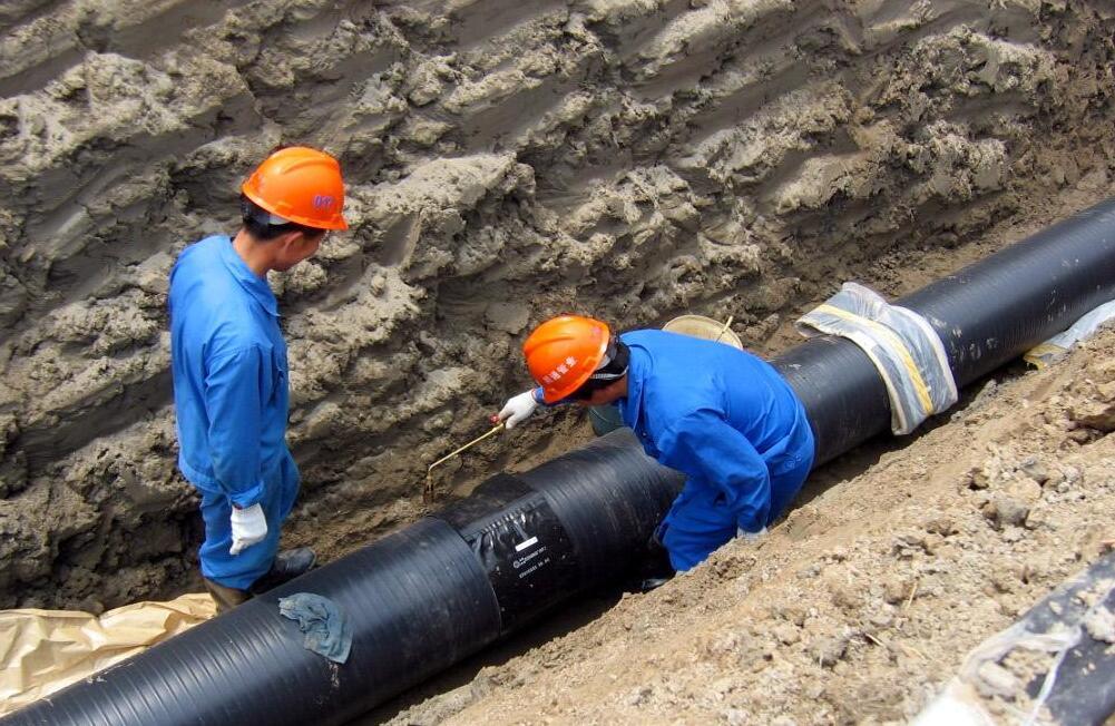 双平壁钢塑复合缠绕管-安徽蚌埠外网排水施工二期