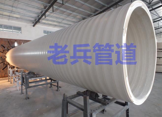 HDPE双平壁钢塑复合缠绕管